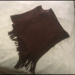Style 101 knit super soft shawl in chocolate brown